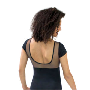 Women's Short Sleeve Mesh Leotard - St. Louis Dancewear - St. Louis Dancewear