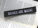 Books Are Magic Black and White Embroidered Sew-on Patch