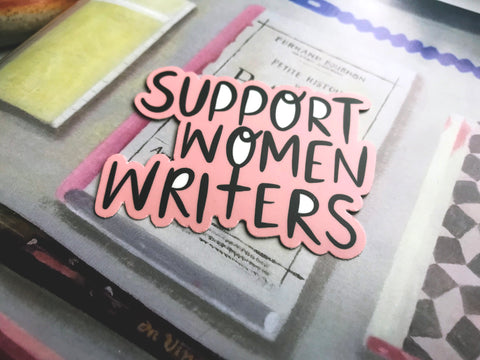 Support Women Writers Blush Vinyl Sticker