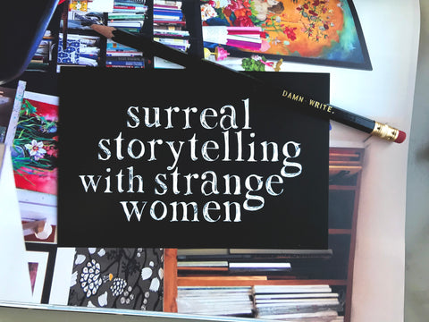 Surreal Storytelling with Strange Women Postcard