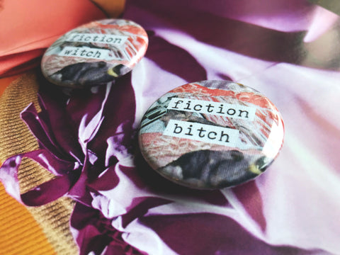 "Fiction Witch/Bitch 1.5"" Pin-Back Button"