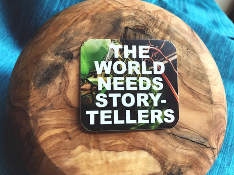 The World Needs Storytellers Overlay 2 Inch Sticker