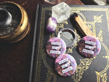 Trust In A Witch / Purple Snakeskin Pin-Back Button