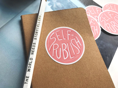 Self-Publish Bubblegum Pink Vinyl Sticker