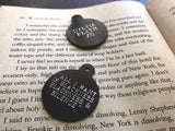 Sylvia Plath Black Engraved Tag