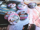 "Boss Queen Dreamy Pastel Collage 1.5"" Pin Back Button"