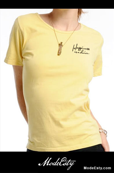 102011 Happiness is a choice - 100% Organic Cotton T-shirt