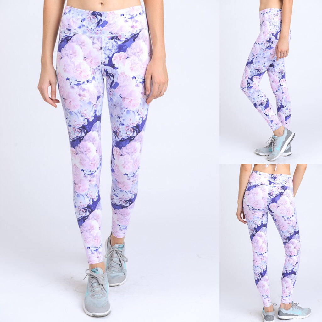 700913 FLFF - Floral Print Athletic Leggings