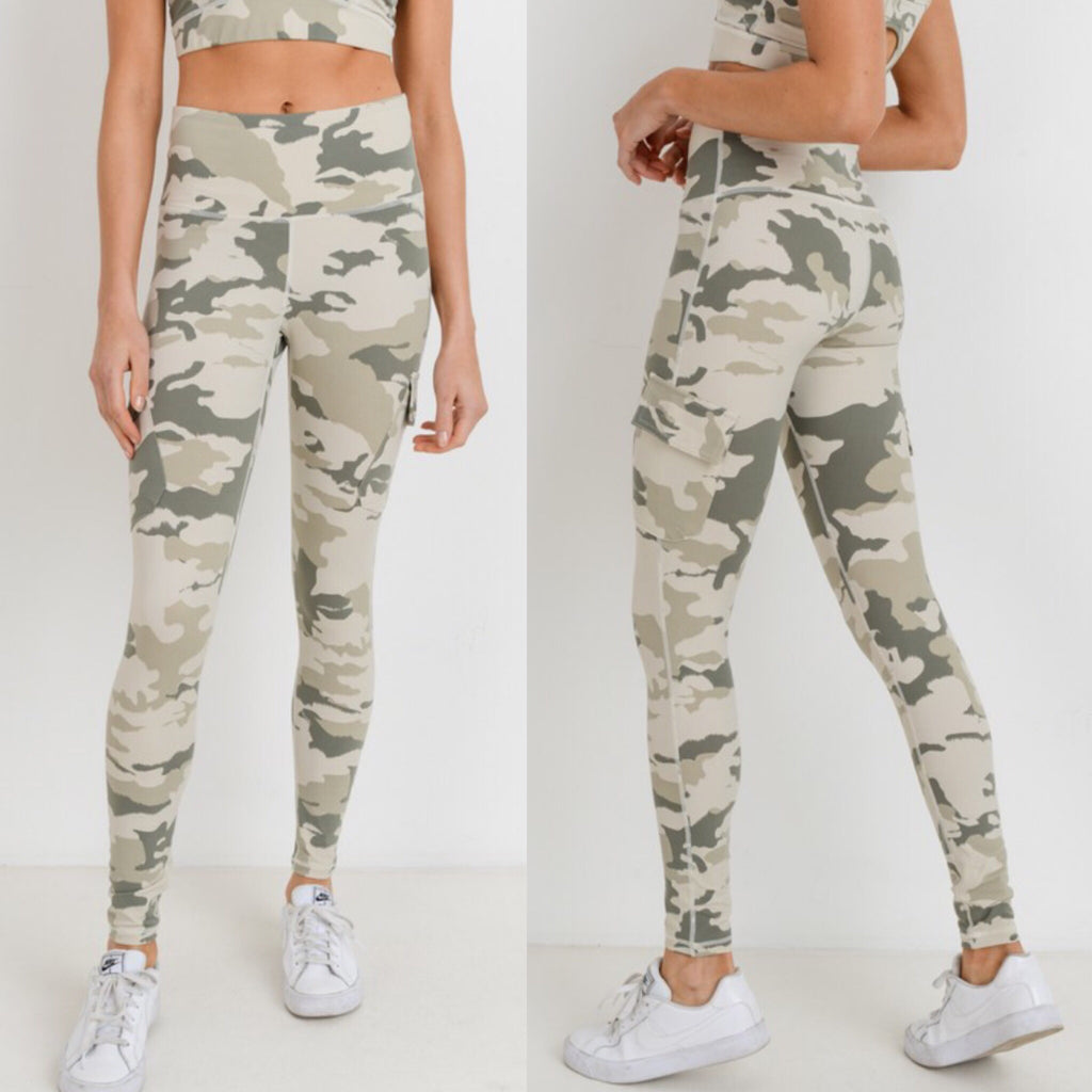 700918 Fierce Camo Athletic Leggings