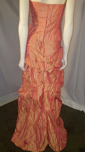 Orang Long dress, back view, sleeveless,  zipper