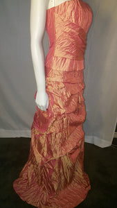 Orang Long dress, side view, sleeveless,  zipper