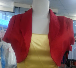 Red Bolero, front view, short sleeves