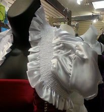 White Bolero, side view, short sleeves