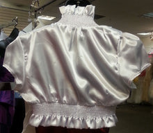 White Bolero, back view, short sleeves