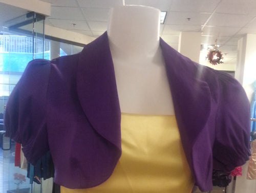Purple Bolero, front view, short sleeves