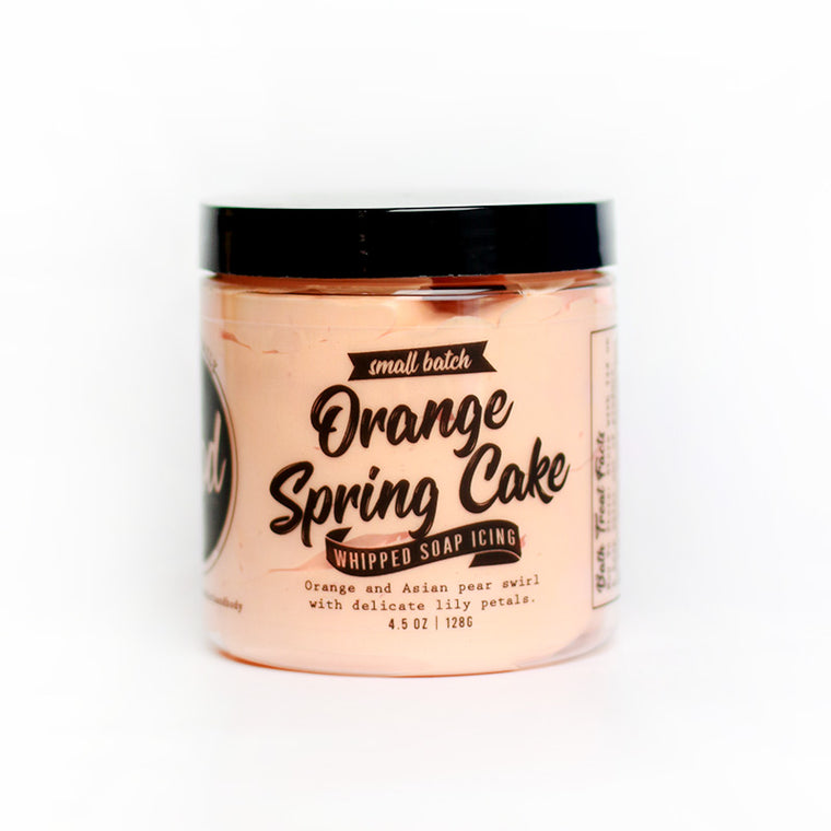 Orange Spring Cake Whipped Soap