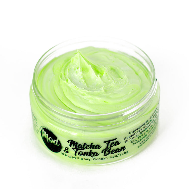 Matcha Tea & Tonka Bean Whipped Soap