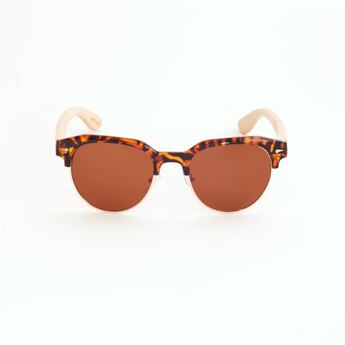 Bamboo Clubmaster Sunglasses (Tortoise Shell)