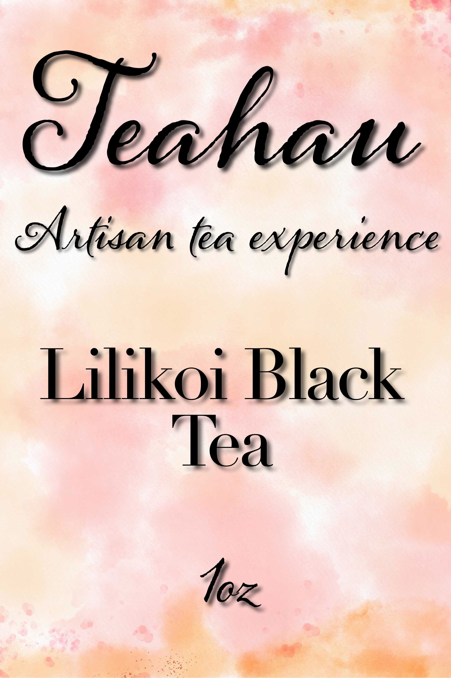 Lilikoi Black Tea 1 oz