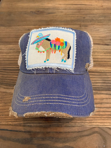 Fiesta Donkey on navy hat