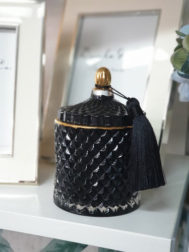 ROYAL BLACK SMALL CANDLE JAR