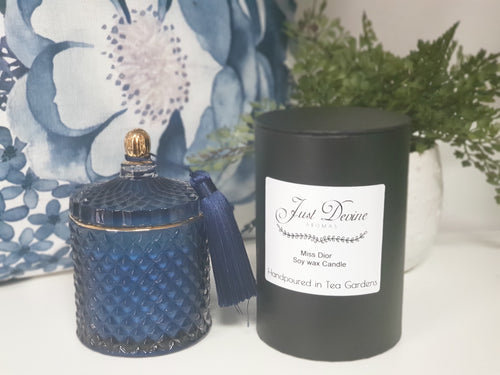 elegant, coloured strong smelling candle jars