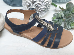 step on air sandals navy