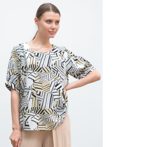 RAYON ABSTRACT PRINT TOP