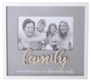 SENTIMENTS FRAMES WHITE 6X4