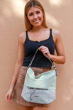 PALE GREEN HAND BAG