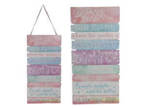 PRINCESS WORDING MDF PLAQUE