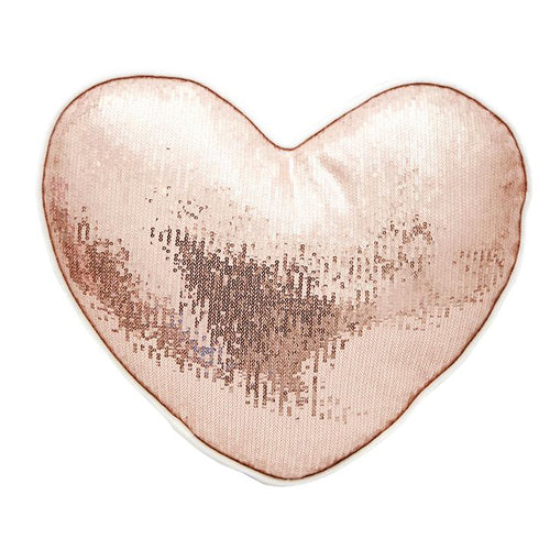 ROSE GOLD HEART CUSHION