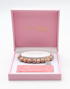 MATTE PINK MATRIX TREE OF LIFE BRACELET