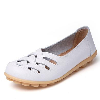 LATTICE SHOES - WHITE