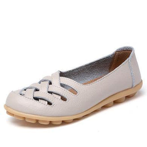 LATTICE SHOES - BEIGE