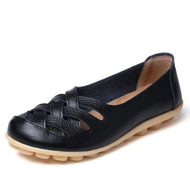 LATTICE SHOES - BLACK