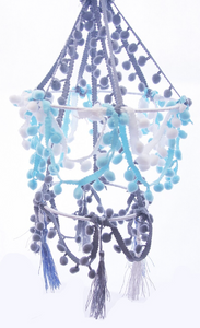 MAKE YOUR OWN POM POM CHANDELIER
