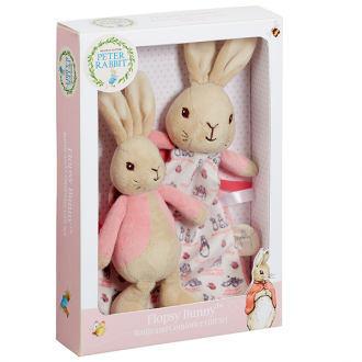 Flopsy rabbit comforter and rattle