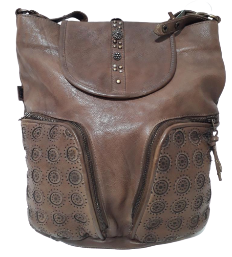 Kelsie leather convertable backpack