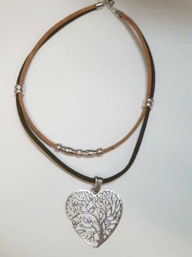 DOUBLE CORD HEART NECKLACE