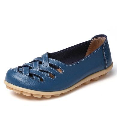 LATTICE SHOES - BLUE