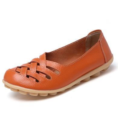 LATTICE SHOES - ORANGE