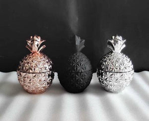 SILVER XL PINEAPPLE CANDLE