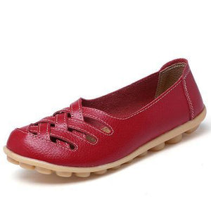 LATTICE SHOES - RED