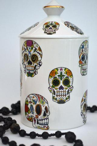 SUGAR SKULLS CANDLE JAR