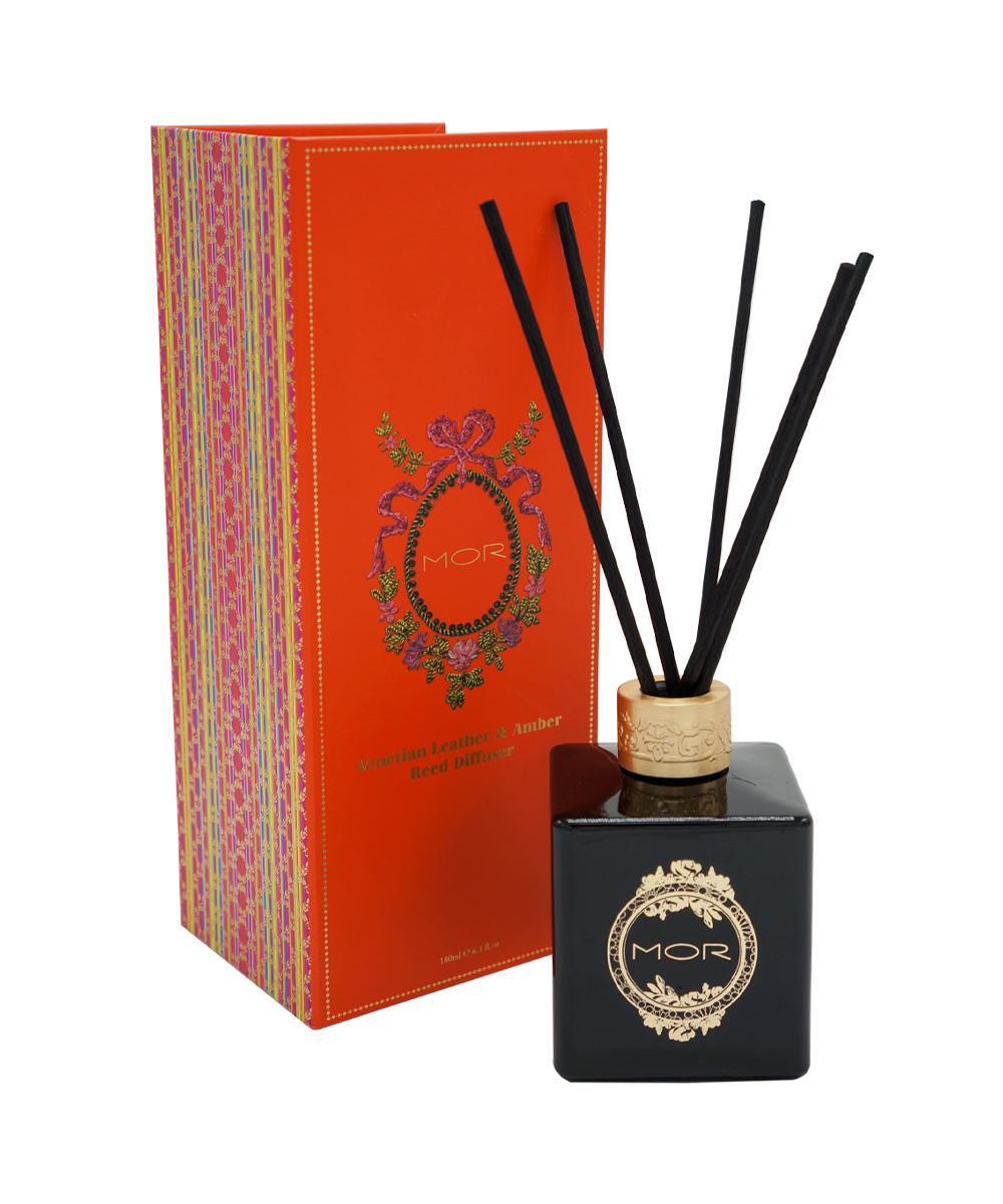 VENETIAN LEATHER & AMBER REED DIFFUSER