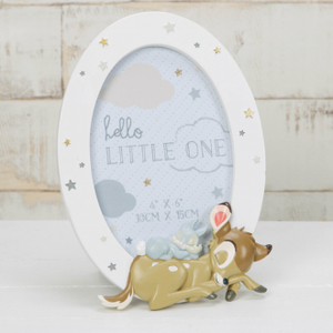 Baby and thumper round resin frame