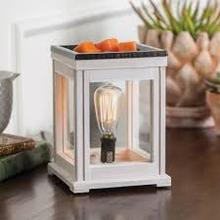 weathered white wax warmer