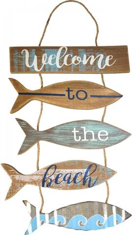 HANGING SIGN WELCOME BEACH