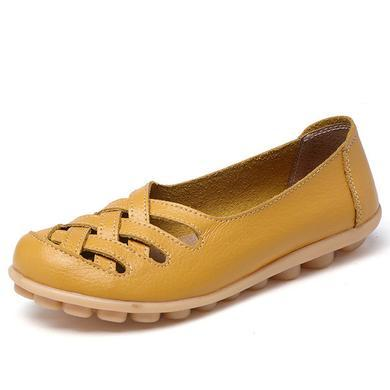 LATTICE SHOES - YELLOW